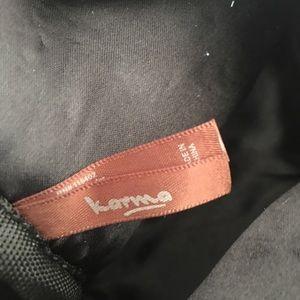 Karma Bags - Furry dark red evening bag.